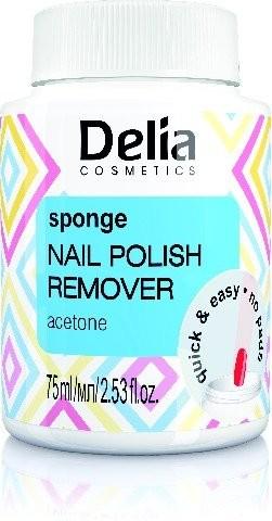Delia Cosmetics Cosmetics, zmywacz do paznokci z gąbką acetonowy, 75 ml