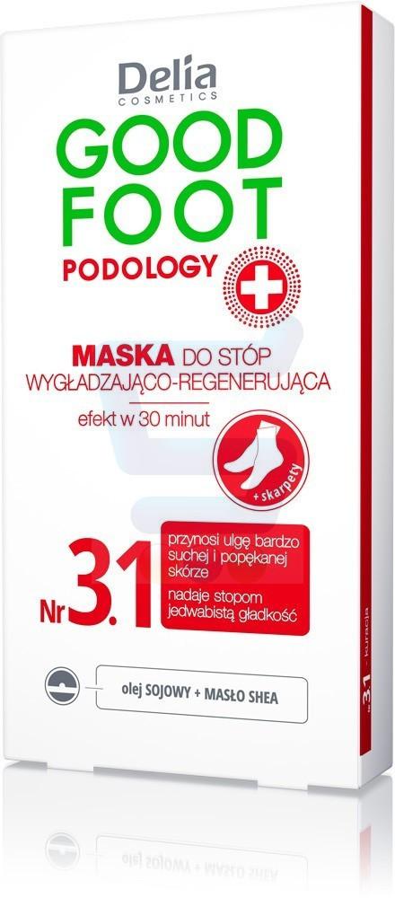 Delia Cosmetics Good Foot Podology Nr 3.1 Wygładzająco-regenerująca maska do stóp 10 ml