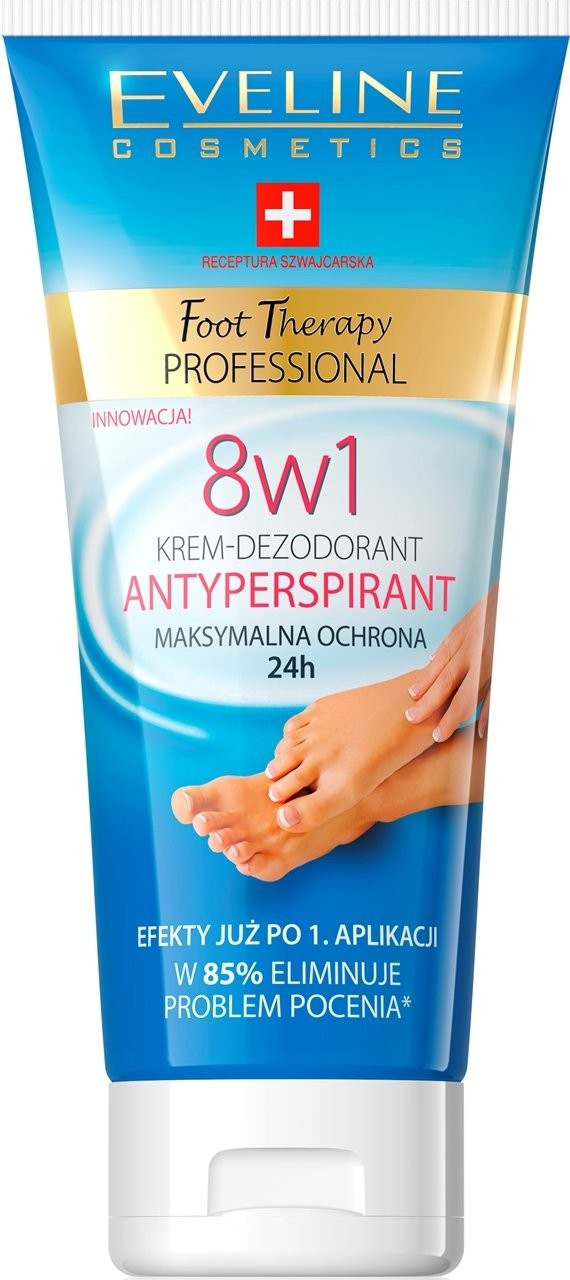 Eveline Foot Therapy Professional krem-antyperspirant 8w1 100ml Wysyłka w 24h 62705