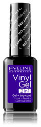 Eveline Vinyl Gel, lakier do paznokci i top coat 2w1 216, 12 ml