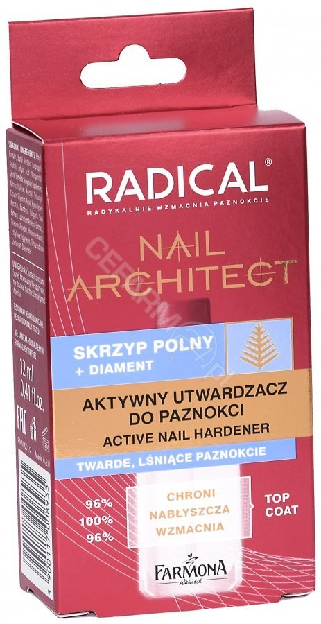 FARMONA Radical Nail Architect aktywny utwardzacz do paznokci 12 ml