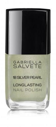 Gabriella Salvete Longlasting Enamel lakier do paznokci 11 ml 18 Silver Pearl