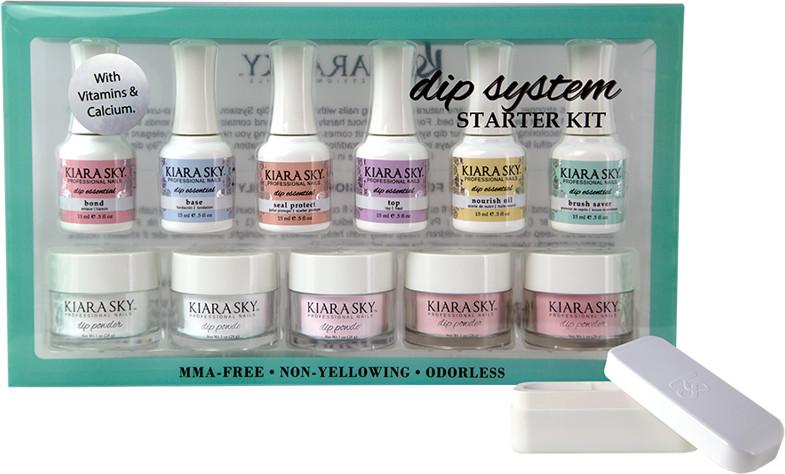 KIARA SKY KIARA SKY DIP SYSTEM Manicure Tytanowy Zestaw French + pudełko french gratis KSDSK01