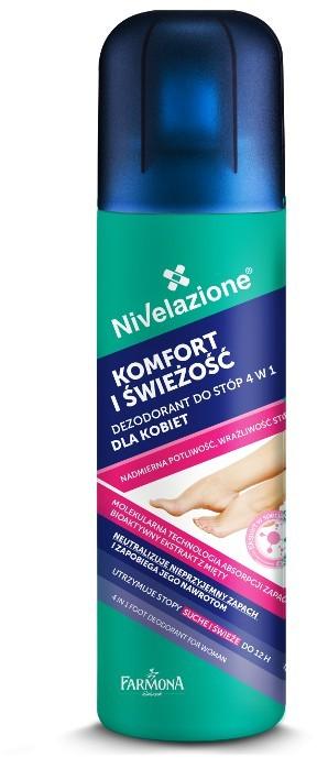 Nivelazione Dezodorant do stóp 4w1 dla kobiet 180ml