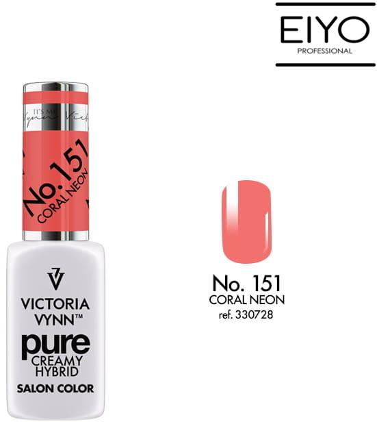 Victoria Vynn PURE CREAMY HYBRID NO. 151 CORAL NEON - 8 ml Wiosna 2019 330728