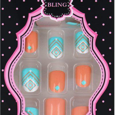 Akcesoria Bling Beatiful New Fashion Zestaw Sztucznych Paznokci + Klej 17