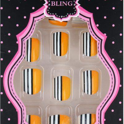 Akcesoria Bling Beatiful New Fashion Zestaw Sztucznych Paznokci + Klej 19