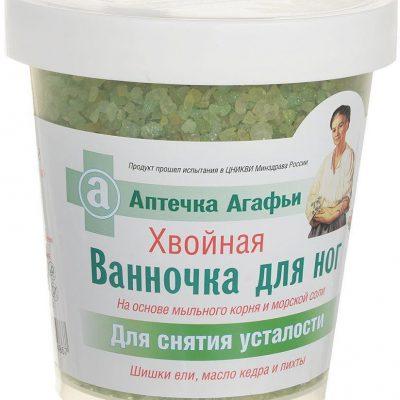 Babuszka Agafia Babuszka Agafia sól do kąpieli stóp Iglasta 600g