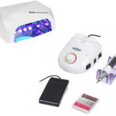 Beauty System Zestaw Frezarka SPRINT45 + Lampa LED36W CFL Biały 1242