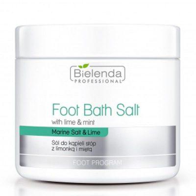 Bielenda Professional Foot Bath Salt With Lime & Mint sól do kąpieli stóp z limonką i miętą 600g