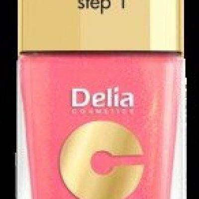 Delia Cosmetics Cosmetics, Coral Hybrid Gel, lakier do paznokci nr 16 ciepły średni róż, 11 ml