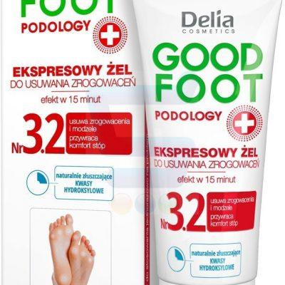 Delia Cosmetics Good Foot Podology Nr 3.2 Ekspresowy żel do usuwania zrogowaceń 60 ml