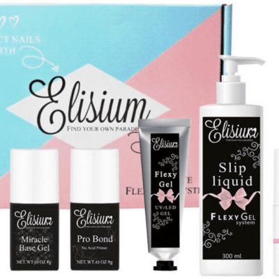 Elisium Zestaw umiarkowany do hybryd Pro Bond + Miracle Base Gel + FlexyGel Milk & Slip Liquid + lakier hybrydowy