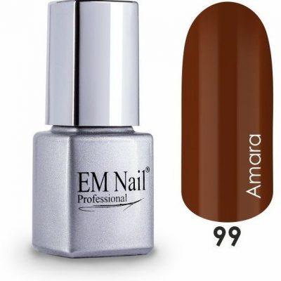 Em nail professional Lakier hybrydowy Easy 3W1 Amara 99 - Brązowy 99 Amara