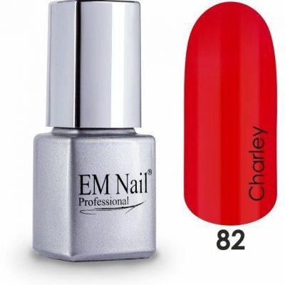 Em nail professional Lakier hybrydowy Easy 3W1 Charley 82 - Czerwony 82 Charley
