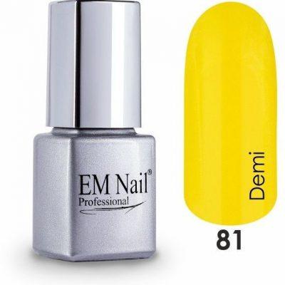Em nail professional Lakier hybrydowy Easy 3W1 Demi 81 - Żółty 81 Demi