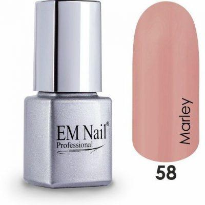 Em nail professional Lakier hybrydowy Easy 3W1 Marley 58 - Brązowy 58 Marley