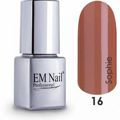 Em nail professional Lakier hybrydowy Easy 3W1 Sophie 16 - Brązowy 16 Sophie