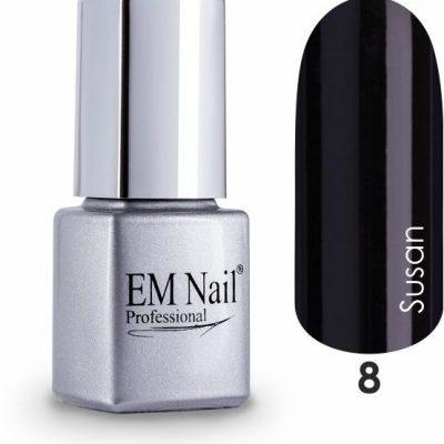Em nail professional Lakier hybrydowy Easy 3W1 Susan 8 - Czarny 8 Susan