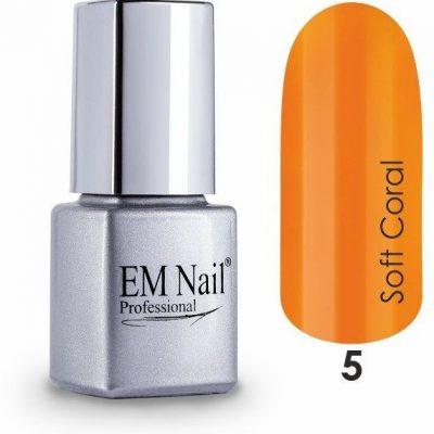 Em nail professional Lakier hybrydowy Premium Soft Coral 5 - Pomarańczowy 5 Soft Coral