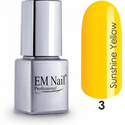 Em nail professional Lakier hybrydowy Sunshine Yellow 3 - 3 Sunshine Yellow