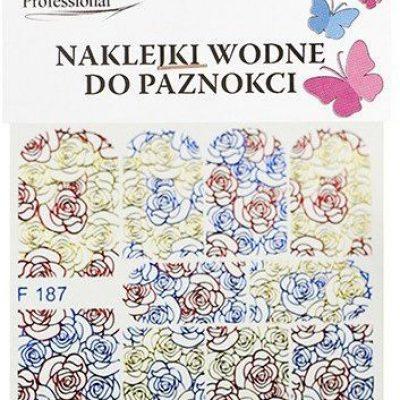 Em nail professional Naklejki wodne do paznokci - Kwiatki (F187) 5903041823490
