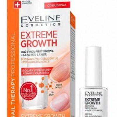 Eveline Extreme Growth odżywka proteinowa + baza pod lakier 12ml
