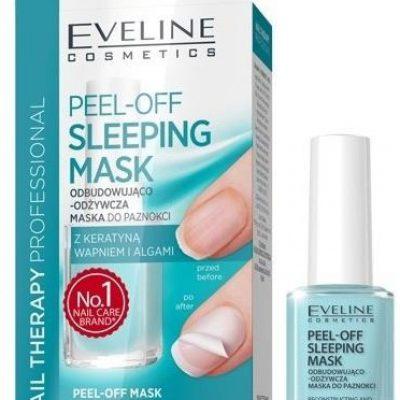 Eveline Nail Therapy Peel-Off Sleeping maska do paznokci odbudowująco-odżywcza 12ml