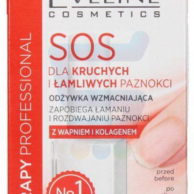 Eveline Nail Therapy Professional Wzmacniająca odżywka do paznokcie SOS 12 ml