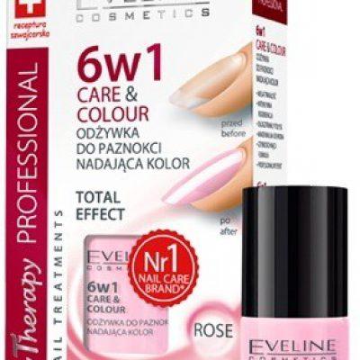 Eveline Odżywka do paznokci nadająca kolor 6w1 ROSE 35286-uniw