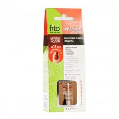 Fitocosmetik Fitocosmetik - Preparat wzmacniający paznokcie - maksymalna ochrona jod 8 ml FIC-026