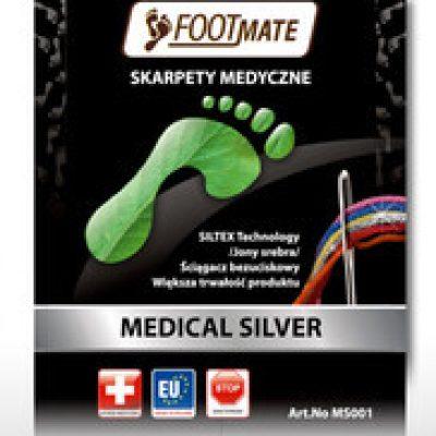 Footmate Footmate Medical Silver AG+ skarpety zdrowotne z jonami srebra HM3576