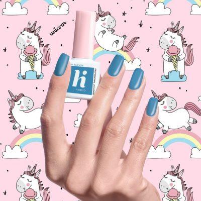 Hi Hybrid Unicorn, lakier hybrydowy 318 Grey Blue, 5 ml