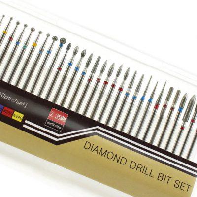 inna marka ZESTAW FREZY diamentowe 30szt zestaw 1-3 5906608276906