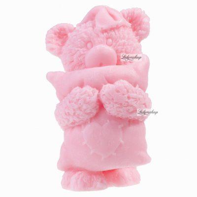 LaQ LaQ - Happy Soaps - Naturalne mydełko glicerynowe - RÓŻOWY MIŚ Z PODUSZKĄ LQRMZP