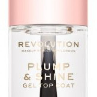 Makeup Revolution Plump & Shine lakier do paznokci z żelowym efektem przezroczysty 10ml