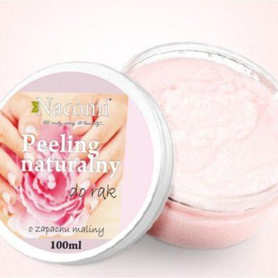Nacomi Peeling naturalny do rąk o zapachu maliny 100ml