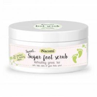 Nacomi Sugar Foot Scrub naturalny cukrowy peeling do stóp Zielona Herbata 125g
