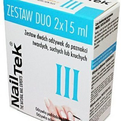 Nail Tek Nail Tek DUO III Zestaw Odżywek do Paznokci Suchych i Kruchych NK20003