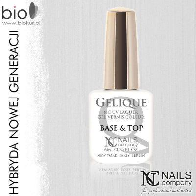 NAILS COMPANY Base&Top Gel Baza i Nabłyszczacz Hybrydowy Nails Company 6 ml BASE GEL