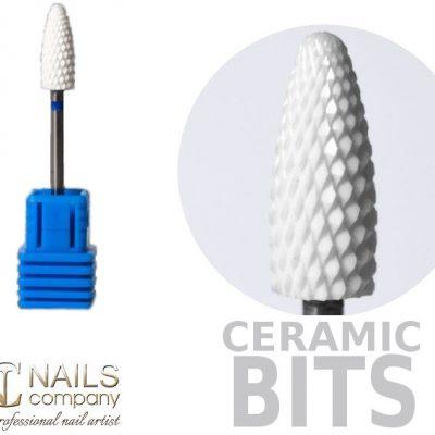 NAILS COMPANY Frez ceramiczny do żelu i akrylu kształt stożek MEDIUM  Nails Company