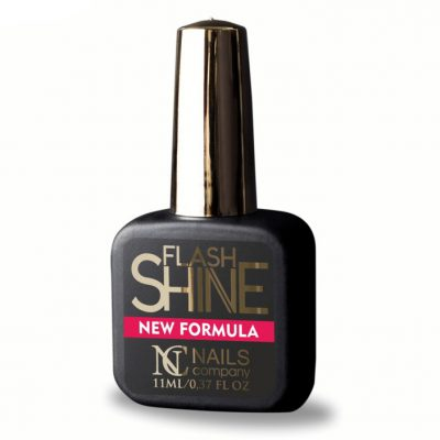 NAILS COMPANY Top Hybrydowy FLASH SHINE UV PROTECT NEW FORMULA Top bez przemywania 11 ml