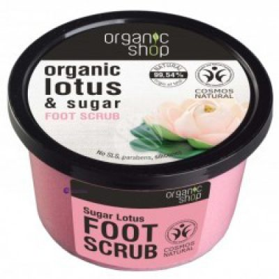 Natura Siberica Organic Shop Sugar Lotus Foot Scrub peeling do stóp 250ml