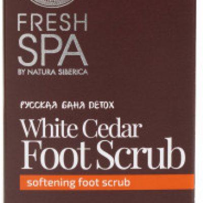 Natura Siberica Peeling do stóp - Fresh Spa Russkaja Bania Detox White Cedar Foot Scrub Peeling do stóp - Fresh Spa Russkaja Bania Detox White Cedar Foot Scrub