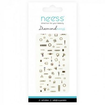 NEESS NEESS Naklejka na paznokcie Diamondneess (3709)  1szt SO_96419