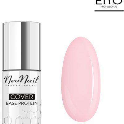 Neonail NOWOŚĆ! Lakier hybrydowy Cover Base Protein Nude Rose 7,2 ml 7033-7
