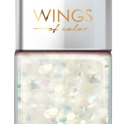 Oceanic AA Wings of Color Summer Festival brokatowy holograficzny lakier do paznokci 104 WHITE 11 ml
