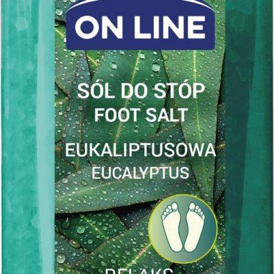On Line relaksująca sól do kąpieli stóp eukaliptusowa, 800 g