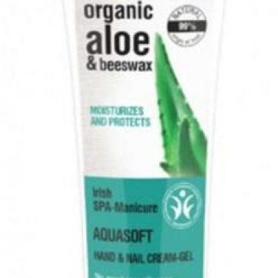 Organic Shop Aloe & Beewax Aquasoft Hand & Nail Cream-Gel kremowy żel do rąk i paznokci 75ml 50689-uniw