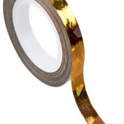 PEGGY SAGE PEGGY SAGE Ozdoby samoprzylepne do paznokci - tasma samoprzylepna - jodelka zloto holograficzne ( ref. 149106)